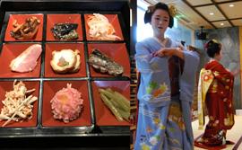 舞妓さん・芸妓さんの京舞を鑑賞しながら、京料理に舌つづみ。